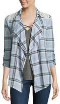 Self Esteem Plaid Shirt and Tank Top- Juniors