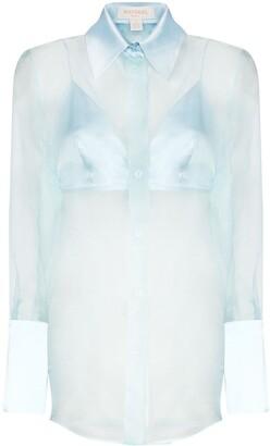 MATÉRIEL Sheer Silk-Organza Shirt