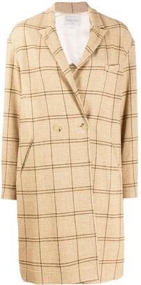 Forte Forte Check Double-Breasted Coat