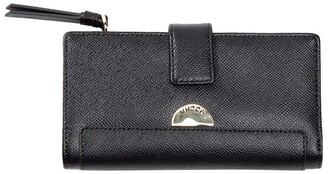 Mocha Premium Long Leather Wallet - Black