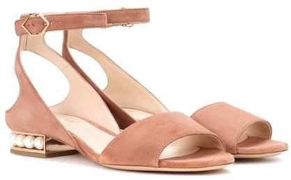 Nicholas Kirkwood Lola Pearl suede sandals