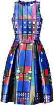 Peter Pilotto Printed silk-satin dress