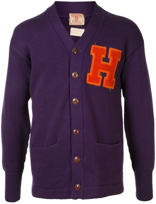 H logo patch cardigan