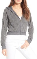 Juicy Couture Women's Dome Stud Embellished Fleece Hoodie