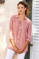 Soft Surroundings Washed Gauze Shirt