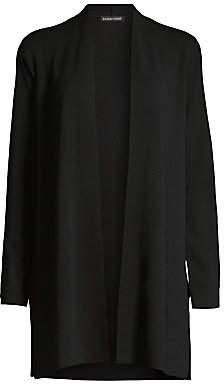 Eileen Fisher Women's Simple Longline Merino Wool Cardigan Sweater