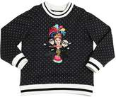 Dolce & Gabbana Polka Dots Printed Cotton Sweatshirt