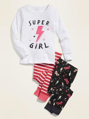 "Old Navy 3-Piece ""Super Girl"" Pajama Set for Toddler Girls & Baby"