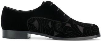 Emporio Armani Floral Cut-Out Lace-Up Shoes