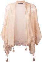 Alberta Ferretti tassel top - women - Silk/Cotton/Polyester - 42