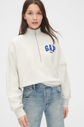 Gap Womens Grey Half Zip Jumper - Grey