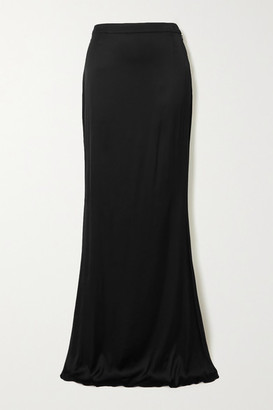 Halpern Stretch-satin Maxi Skirt - Black