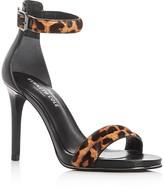 Kenneth Cole Brooke Calf Hair Leopard Print High Heel Sandals