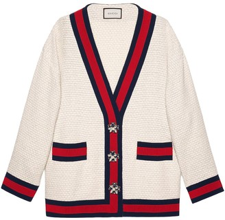 Gucci Oversize tweed cardigan jacket