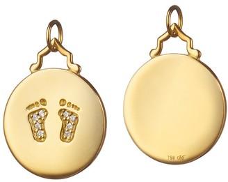 """Monica Rich Kosann Baby Feet """"Birth"""" Charm"""