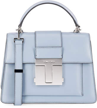 Tom Ford Small Leather Top-Handle Bag with Silver Hardware