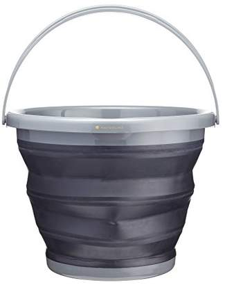 Kitchen Craft MasterClass Smart Space Collapsible Bucket, Black/Grey, 9 Litres