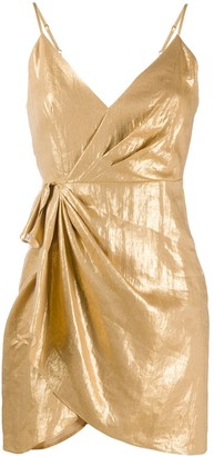 Sandro Paris Draped Wrap Mini Dress