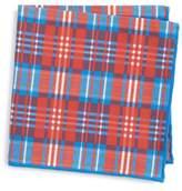 Canali Plaid Cotton & Silk Pocket Square