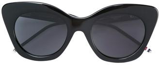 Thom Browne Black Sunglasses With Dark Grey Lens