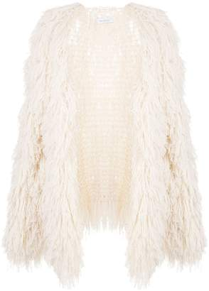 Roche Ryan loose-fit fringed cardigan