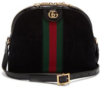 Gucci Ophidia Gg Suede Cross-body Bag - Womens - Black Multi
