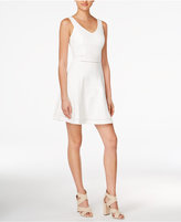 Bar III Crochet-Trim Fit & Flare Dress, Only at Macy's