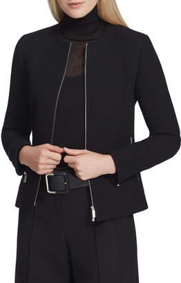 Lafayette 148 New York Kayla Nouveau Crepe Zip Front Jacket