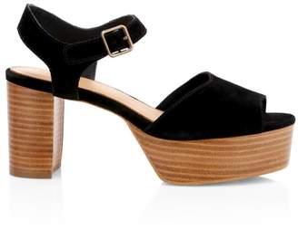Soludos Avra Suede Ankle Strap Platform Sandals