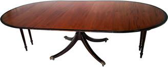 One Kings Lane Vintage Georgian Style Oval Mahogany Table - Fleur de Lex Antiques