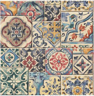 A-Street Prints Multi Marrakesh Tiles Wallpaper