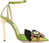 DSQUARED2 eye pendant pointed sandals