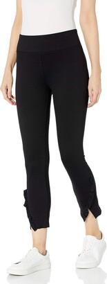 David Lerner Women's MID Rise Legging W/Ruffle Detail
