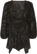 Isabel Marant Vienna Fil Coupe Chiffon Mini Dress