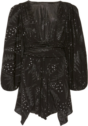 Isabel Marant Vienna Fil Coupe Chiffon Mini Dress