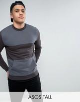 Asos Tall Sweatshirt With Cut & Sew