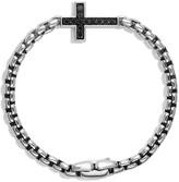 David Yurman 'Pave' Cross Bracelet with Black Diamonds