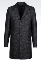 Emporio Armani Coat In Tweed Effect Jersey