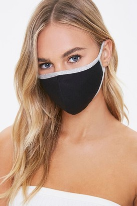 Forever 21 Heathered-Trim Face Mask