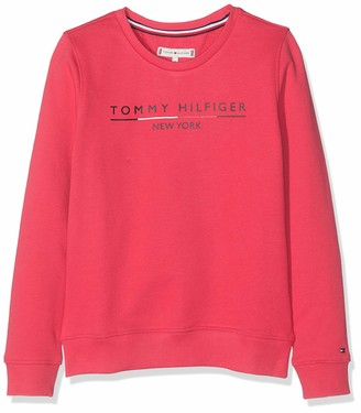 Tommy Hilfiger Girl's Essential Logo Crew Sweatshirt