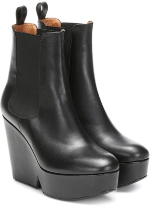 Clergerie Beatrice platform wedge ankle boots