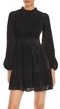 Aqua Velvet Burnout Dress - 100% Exclusive