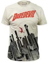 Impact Daredevil Marvel Superhero Comics Gun City Adult Big Print Subway T-Shirt Tee