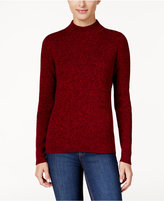 Karen Scott Petite Marled Mock-Neck Sweater, Only at Macy's