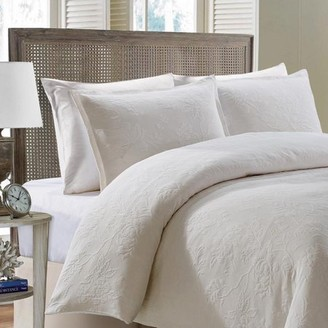 Style Quarters Elizabeth Comforter set Ivory---Machine Washable - Includes 1 Duvet + 2 Shams - King