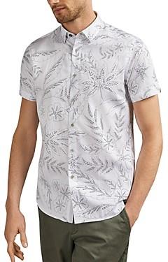 Ted Baker Damiem Dotted Floral Slim Fit Shirt
