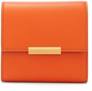 Bottega Veneta Mini Continental Leather Wallet - Womens - Orange