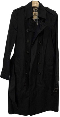 Burberry Black Cotton Trench Coat for Women