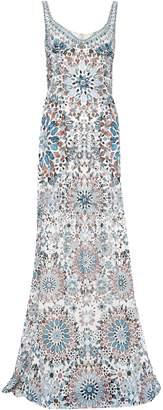 Roberto Cavalli Crystal-embellished Printed Silk-chiffon Gown