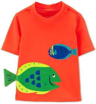 Carter's Carter Baby Boys Fish-Print Rash Guard